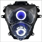 LED Motorcycle HID Projector Lamps Custom Headlight Assembly for GSXR600 2011-2014