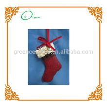 hot sale elegant ceramic santa boots decoration