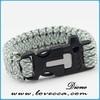 wholesale sports paracord bracelet with charm