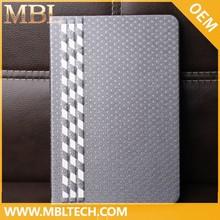 Luxury knit needle leather case for ipad mini