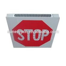 Informative international solar traffic sign STOP marker