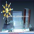 china estilo de luxo conjunto de cristal escritório cristal decoração de negócios