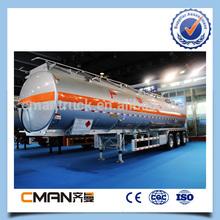 China tri Axle 50000 liters aluminum diesel fuel tank for Saudi Arabia market