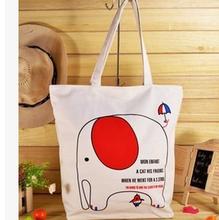 Alibaba supplier cute elepant canvas handbag high quality women fancy handbag