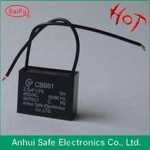 CBB61 electric ceiling fan capacitor dual capacitance