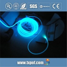 solid core side light glow Optical fiber for decoration