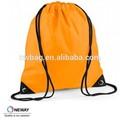 Eco Friendly mochila de algodão / poliéster 210D sacos de cordão / heavy duty saco de cordão de poliéster