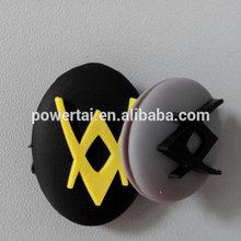 accesorios deportivos en forma de v de color gris de silicona amortiguador de choque de la raqueta de vibración amortiguador de tenis