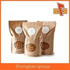 Wrinkle- free kraft paper bag with oval window, kraft paper food bag for packing snack