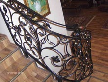 top selling black wrought iron stair railing for house