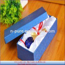 New design crystal rose flower withgolden leaf and stem for wedding souvenir