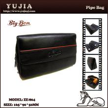 Guangzhou yujia genuine leather smoking pipe bag tobacco ZE-804