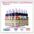 De la marca lushcolor permanente maquillaje brillo del tatuaje de tinta, baratos de tinta del tatuaje kit, mejor tinta del tatuaje