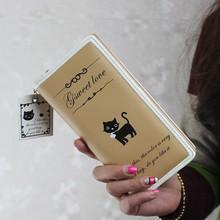 BV2131 PU wallet Korean cute little cats printing PU women clasp wallets