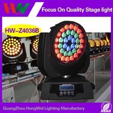 led lights 36 12w quad rgbw zoom led wash moving head