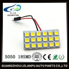 LED Panel light 5050 36LED T10 + BA9S + Festoon Dome Adapters