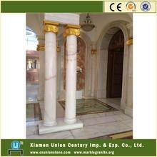 White Marble Onyx Pedestal Column&Pillar