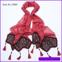 fashion hijab scarf with rivet square shape panel pressing ,arabic hijab scarf