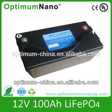 High quality 12v 100ah lithium battery for RV/motor home/caravans
