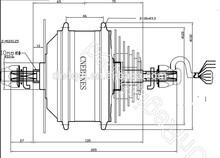 48v 1000w electric wheel hub motor