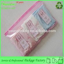 Alibaba hot sales plastic bag for panty/zipper bag for underwear/custom pants packaging bag