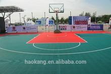 outdoor PP interlocking basketball flooring