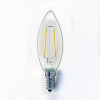 home light LED candle bulb E14 E27 glass