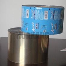 Laminating food packaging plastic film roll