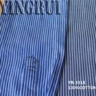 4.4oz 100% cotton blue and white stripe denim fabric wholesale
