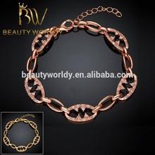 Dubai gioielli bracciale in oro, oro 14k moda bracciale, 14k bracciale in oro malocchio