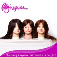 factory price real hair manequin head cheap training head for hairdressers