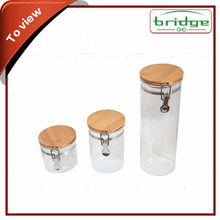 OEM Food Storage Airtight Container/Jar/ Box/Canister with bamboo Lid