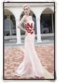 red hot diamods pêssego frisado chiffon decote sem alças querida vestido de baile longo gl0323