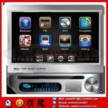 best price 1 din 7 inch car dvd player DVD GPS+Bluetooth+iPod connectivity+AM/FM Radio