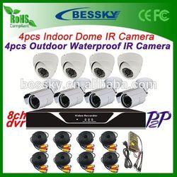 8 camera ninja 300 2013 fairing kit dvr alarm hot cctv