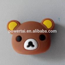 De dibujos animados loverly del oso de la cabeza raqueta de tenis antivibradores / amortiguadores al por menor venta al por mayor