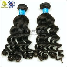 Luxefame hair no chemical processed long life span reinforce weft brazilian wet and wavy hair