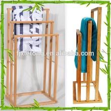 Bamboo Bathroom Standing Cornor Rack Three Shelves
