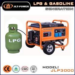 Hot!Portable home use electric/manual start 2kva LPG Gas generator price