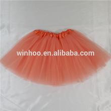 peach tutu skirt OEM baby tutut skirt dance dress girls