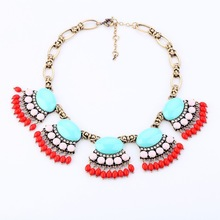 2015 fashion jewelry women gold in choker statement necklace designs