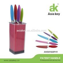 Strip plastic Square stand, Color coating non-stick cutlery sets