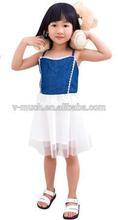 2015 new arrival Kid Child Clothes Girls Summer Frozen Elsa Dress