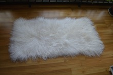 China Hot Tibet Lamb Skin Rug Mongolian Lambskins Real Fur Rugs