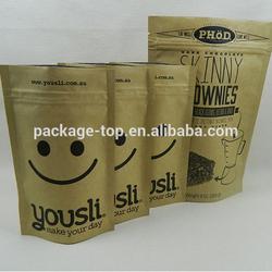general grocery brown kraft paper bag for tea food bag packaging