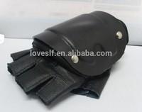 LOVESLF Gloves high quality half finger leather gloves Armor tactical protective gloves