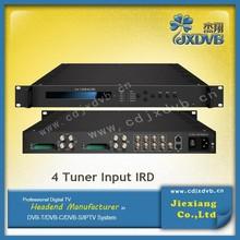 Digital IPTV Platform DVB S2 8psk satellite receiver
