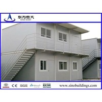 hot sale low budget ready made prefab container house steel building