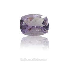 Semi-precious gemstone calibrated size brilliant cutting Rose De France Amethyst