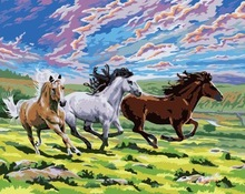 Chinese high quality wholesale handmade Horse DIY oil painting